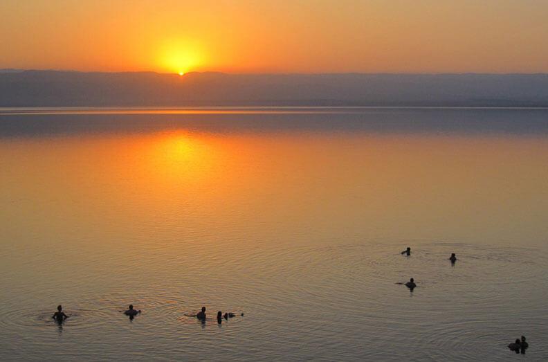 Sunset Dead Sea Jordan
