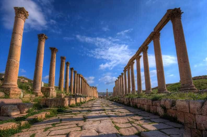 Colonnaded St Jerash Jordan